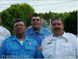 Chief Romig with his sons Corey and Darryl Lee
