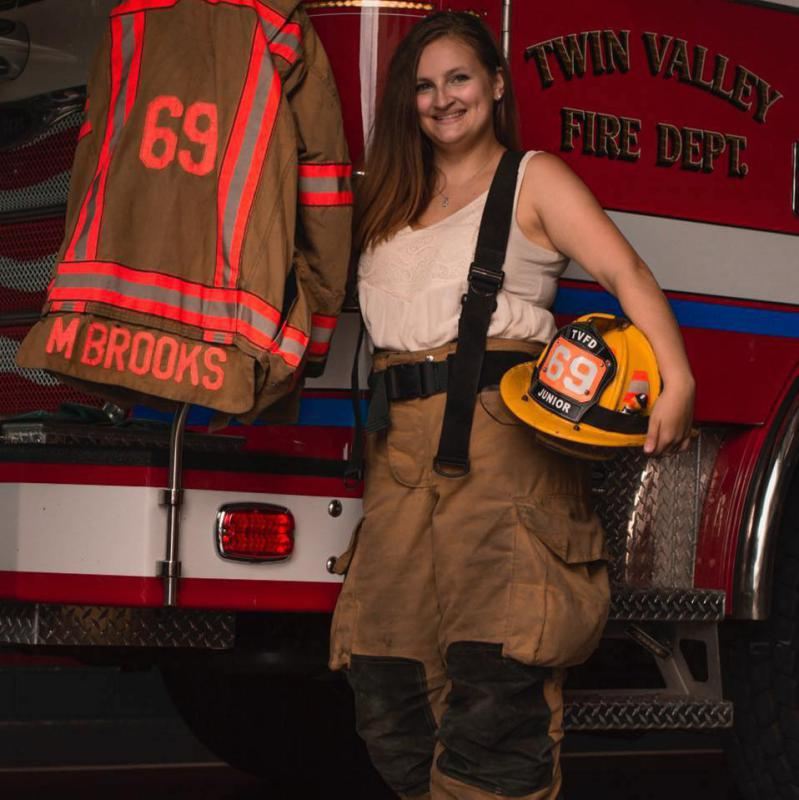 Firefighter Michaela Brooks