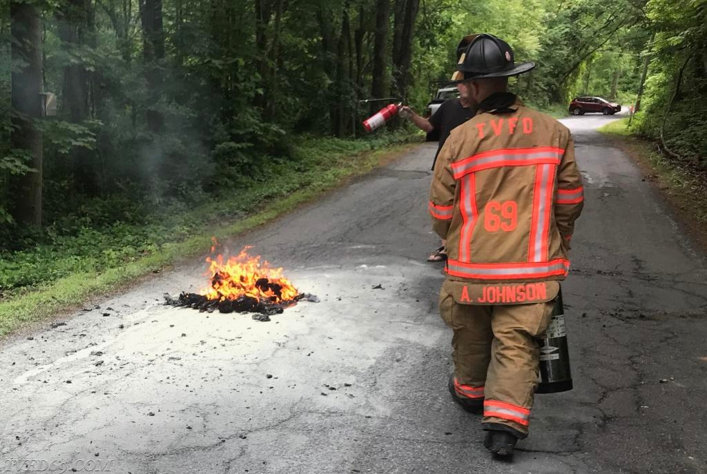 Red Hill Road Trash Fire