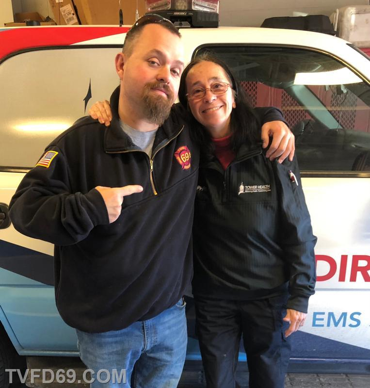 Cathie with FF / EMT/ Photographer J. McCully
