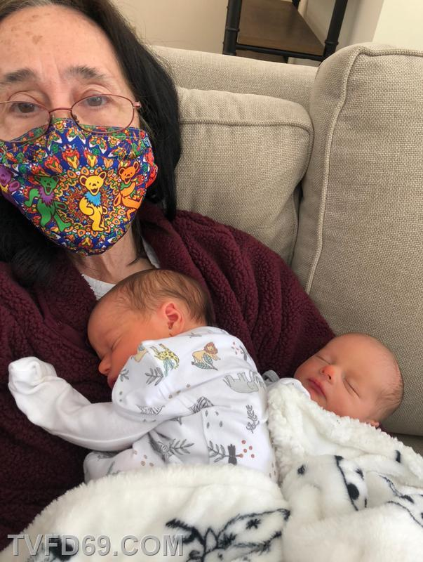 Cathie spending time with her grandbabies