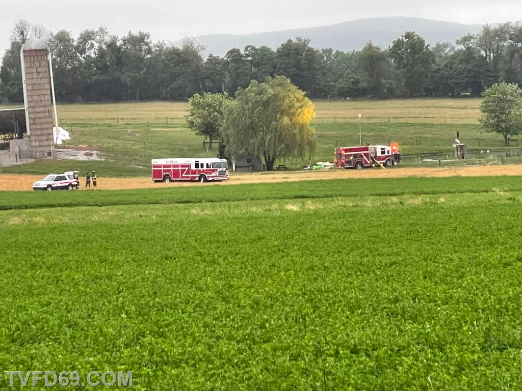Engine Drafting from the pond  onscene