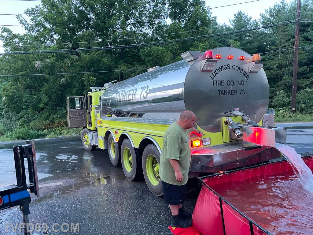 Chief 73 operating the dump valve on Tanker 73